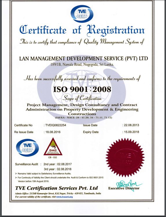 Certificate - Certificate of Registration - ISO 9001 - 2008
